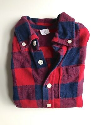 Baby Gap Boys 4t Blue And Red Check Flannel Long Sleeve Shirt