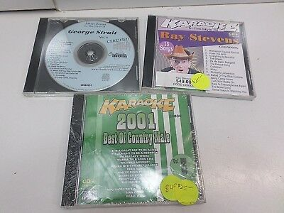 Karaoke CD+G 2001 best of country male(NEW) Ray Stevens used George Strait new