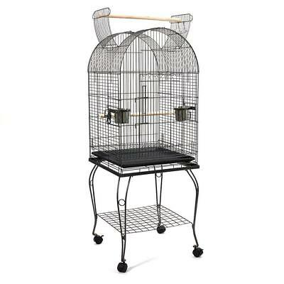 Bird Cage Parrot Aviary Pet Stand-alone Budgie Perch Castor Wheels 150cm