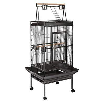 Bird Cage Parrot Aviary Pet Stand-alone Budgie Perch Castor Wheels 173cm Large