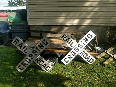 Vintage Original Railroad Crossing Sign W/all Glass Cat-Eye Marble's Very Rare