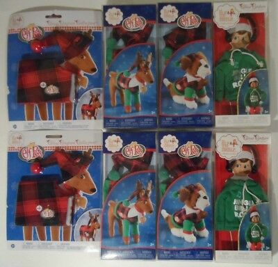 Lot of 8 NEW - Elf on the Shelf / Elf Pets Christmas Couture Collection Outfits