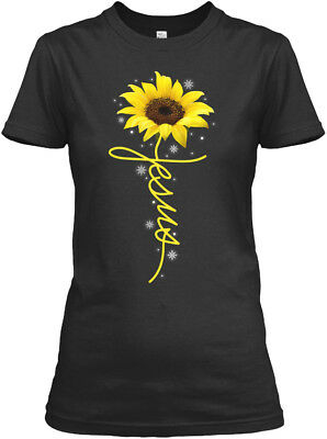 On trend Sunflower Christian Cross Faith Jesus Gildan Gildan Women's Tee T-Shirt