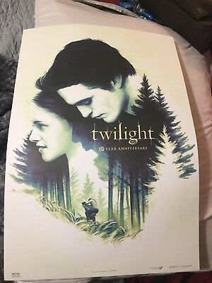 """TWILIGHT 10TH ANNIVERSARY 13.5""""x19.5"""" Poster And Blu Ray Dvd"""