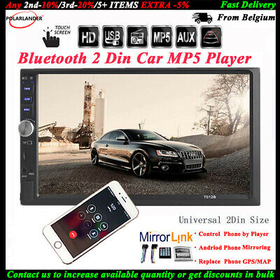 7'' 2 DIN Touch Screen Car Radio USB/TF/AUX/FM/Remote Audio Bluetooth MP5 Stereo