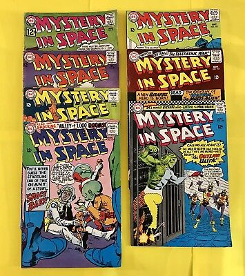 Group Of 7 Mystery In Space DC Comics #77, 81, 82, 101, 102, 103, 106 (1962-66)