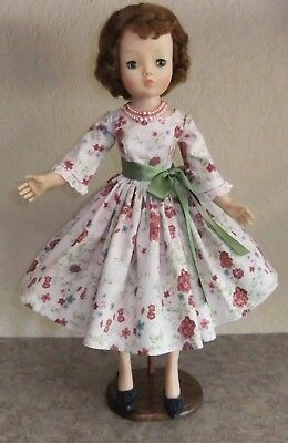 "Day dress made for 20"" vintage Madame Alexander Cissy, Sweet Sue, Miss Revlon,"