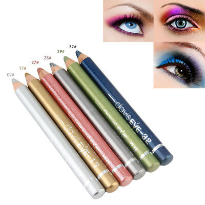 6pcs/Set Bright Eyeliner Pen Pencil Professional Cosmetic Eye Beauty Tools SG