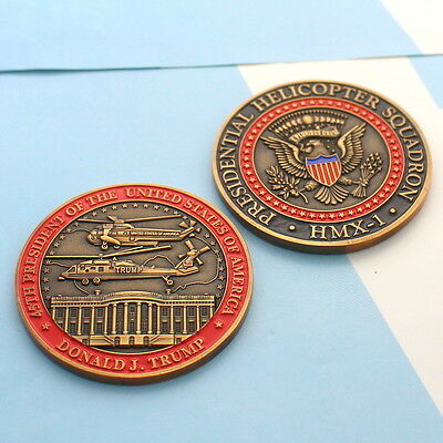 challenge coin  WHITE HOUSE  DONALD TRUMP Marine Helicopter Squadron One hmx-1