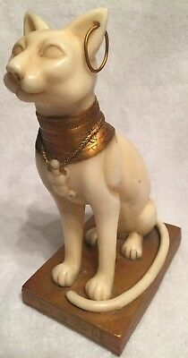 "Vintage Egyptian Ancient Cat Goddess Bastet 8"" Statue Perfect Condition"
