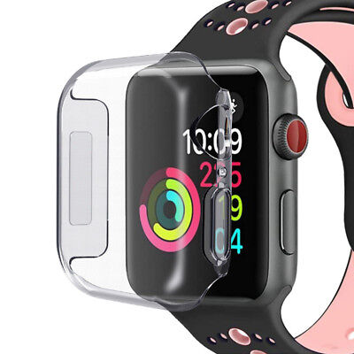 Soft TPU Case For Apple Watch Series 4 40/44mm Full Protective Clear Cover Film
