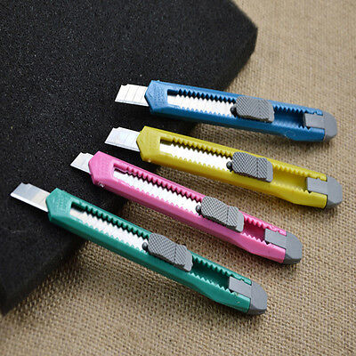 Practical 2PCS Box Cutter UtilityKnife Snap Off Retractable Razor Blade Knives