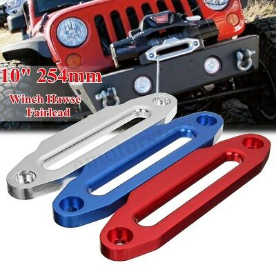 """10"""" 16800lbs Aluminum Hawse Fairlead For Winch Synthetic Rope Guide Offroad 4WD"""