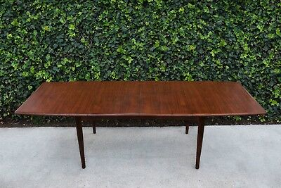 Mid Century Modern Danish Teak Dining Table by Falster with 2 Leaves
