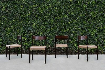 Set of 4 Mid Century Danish Modern Poul Volther Rosewood Dining Chairs