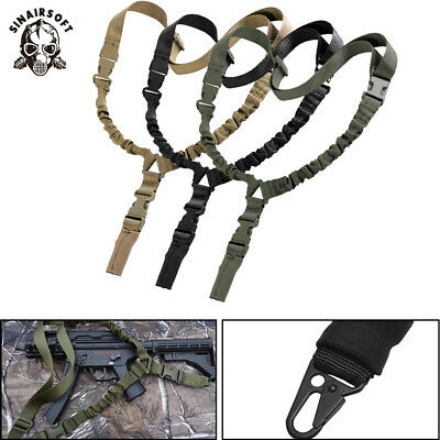 Tactical One 1 Single Point Bungee Rifle Gun Sling Strap W/ Quick Release Buckle