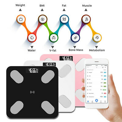 Digital Smart Body Fat Weight Scale LCD Health Fitness BMI Muscle Bathroom Scale