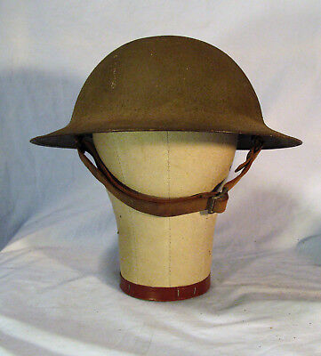 Antique WW1 US American Army Doughboy Textured Helmet & Chinstrap & Liner
