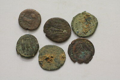 Ancient Roman Imperial 6 Old Coins Lot A98 Xp42