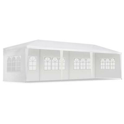 3x9M Pop Up Outdoor Gazebo Folding Tent Market Party Marquee Shade White