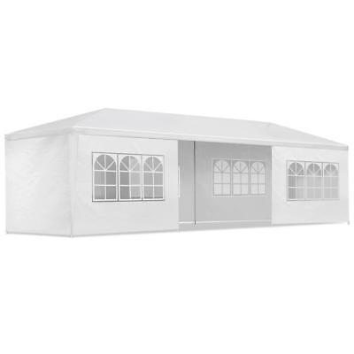 White 3x9M Pop Up Outdoor Gazebo Folding Tent Market Party Marquee Shade
