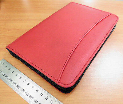Diary 2019 A5 Week To View Exec Red Soft-feel PU Zip-up Case Cover with pockets