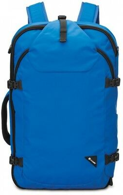 22 in. Carry-On Backpack Blue w/ Laptop Compartment and 2 Zippered Mesh Pockets