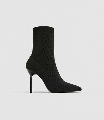 1057bcf556e Nwt Zara Stretch Fabric High Heel Ankle Boot 7148 201 Sz 9 Sold Out Lower