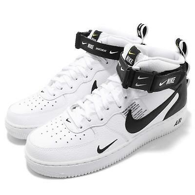 detailed look 8e51a 13b80 Nike Air Force 1 MID 07 LV8 White Black Tour Yellow AF1 Mens Shoes 804609-