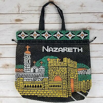 Nazareth Isreal Holy Land Handmade Beaded Religious Christian Temple Handbag Bag