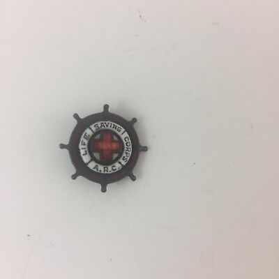 Antique Vintage Collectible Pin: ARC American Red Cross Life Saving Service