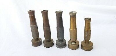 Lot 5 Vintage Brass Nozzles Adjustable Garden Water Hose Spray