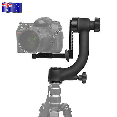 Aluminum Alloy Gimbal Tripod Head Ball Mount Tray for Camera Telephoto DSLR AU