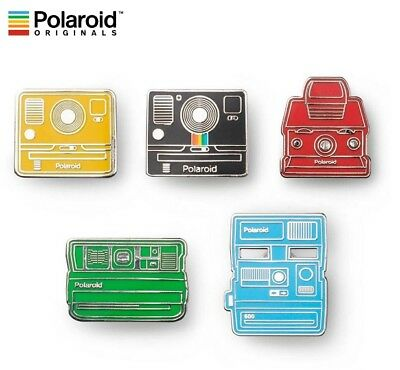 Polaroid Originals Instant Camera Pin Badge Collector 5pcs Set 600 SX70 Onestep