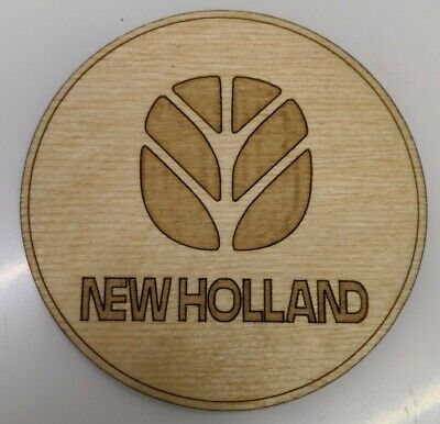 British Leyland logo coaster laser cut from birch ply.