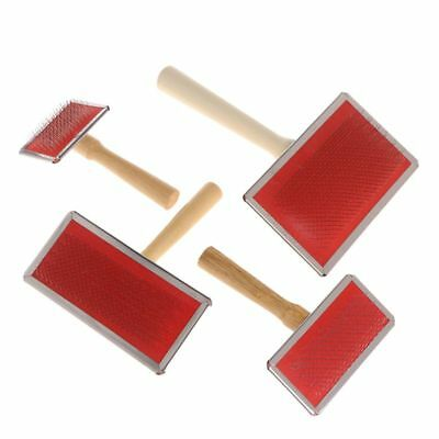 Pet Grooming Comb Shedding Hair Remove Brush Wood Handle Cat Dog Cleaning Supply