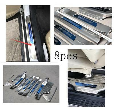 8pcs Stainless Steel  Door Sill Scuff Plate For Toyota Highlander 2015-2018