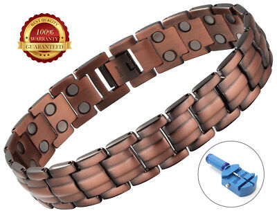 Copper Magnetic Health Bracelet 42 Magnets Pain Relief Therapy Healing Bangle
