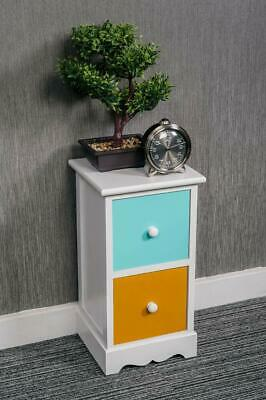 2 3 4 Drawer Slim Tall Boy Bedside Table Storage Unit Bedroom Chest Nightstand