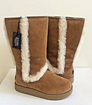 dcaa7fbfde9 UGG ULTIMATE TALL Braid Chestnut Shearling Leather Boot Us 7 / Eu 38 ...