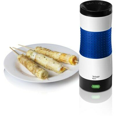 Omelette & Egg Roll Maker Elgento Vertical Cylinder Grill Style With Recipe-BLUE