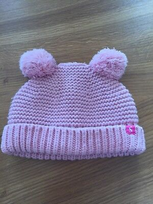 Girls Joules Pink Knitted Hat 1-2 Years VGC