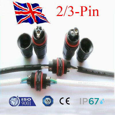 Waterproof Junction Box Electrical Cable Wire Connector Outdoors 240V Mains IP67