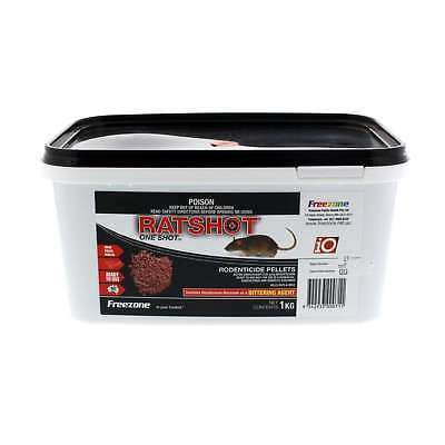Freezone Rat Shot Bait Ratshot Rapid Kill Red Pellets Brodifacoum 1kg