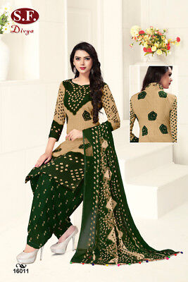 Unstitched Salwar Kameez Indian Pakistani Synthetic Bollywood Diwali Party Wear