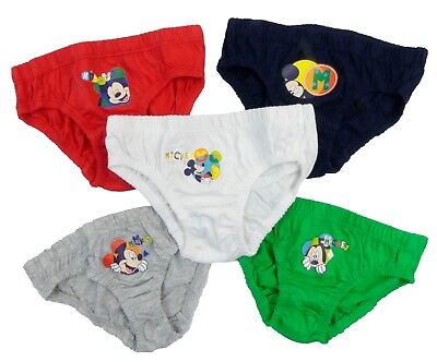 Mickey Mouse Five Pack Briefs Pants Slips Underwear Two Styles To Choose From