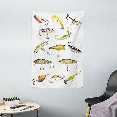Fish Tapestry Hunting Sea Animals Theme Print Wall Hanging Decor
