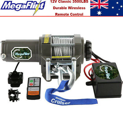 12V Wireless 3000LBS / 1361KGS Electric Winch Synthetic Rope ATV 4WD BOAT UTV
