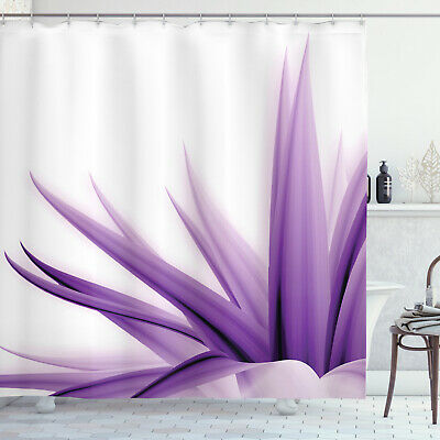 Flower Shower Curtain Purple Ombre Lotus Art Print For Bathroom