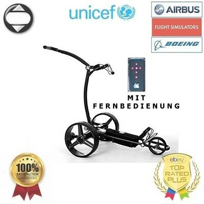 [UNICEF] GOLF TROLLEY FUNK FERNBEDIENUNG UVP 800€ Golftrolley Schwarz Lithium